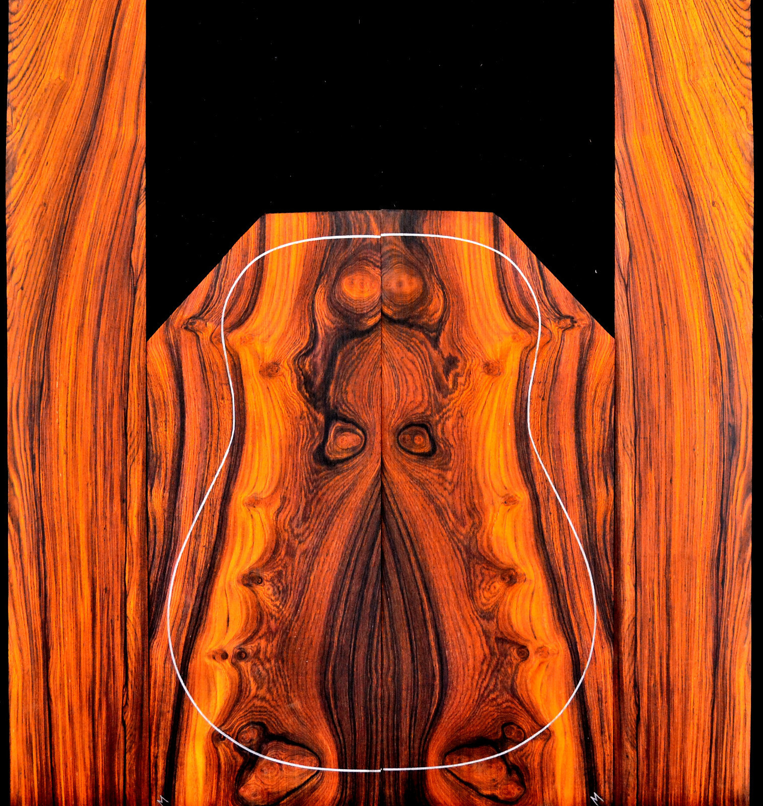 Cocobolo Guitar Wood Cocobolo Wood Guitar When